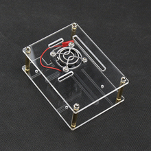 For Raspberry Pi 4 Acrylic Case Transparent Box Shell Clear Enclosure with Cooling Fan Metal Cover for Raspberry Pi 3 3B Plus