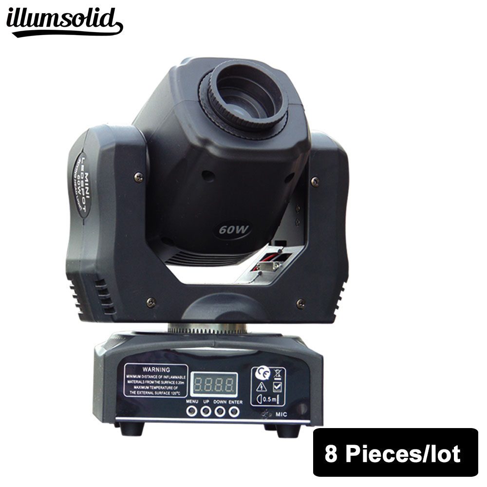 fast shipping HOT/ 8pcs/lot Eyourlife LED Inno Pocket Spot Moving Head Light 60W DMX dj 8 gobos effect stage lights багажники inno