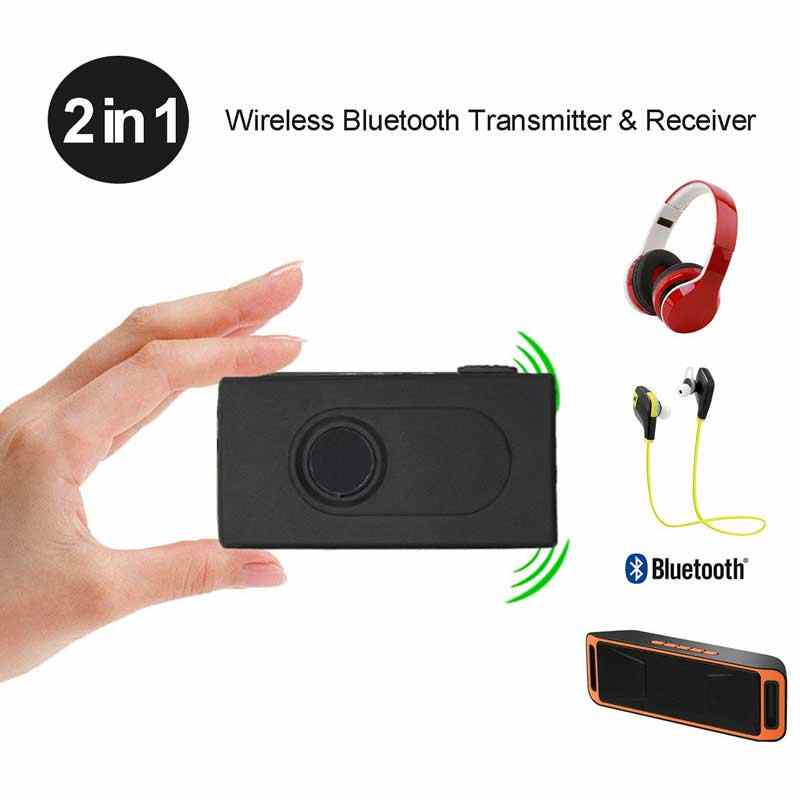 Rovtop Wireless Bluetooth Transmitter Receiver Adapter Stereo Audio Music Adapter With USB Charging Cable 3.5mm Audio Cable