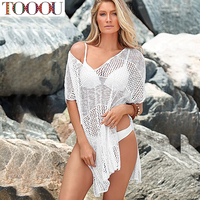 New Style Beach Swimsuit Cover Up Summer Openwork Bikini Crochet Cover Up Sexy Bathing Suit