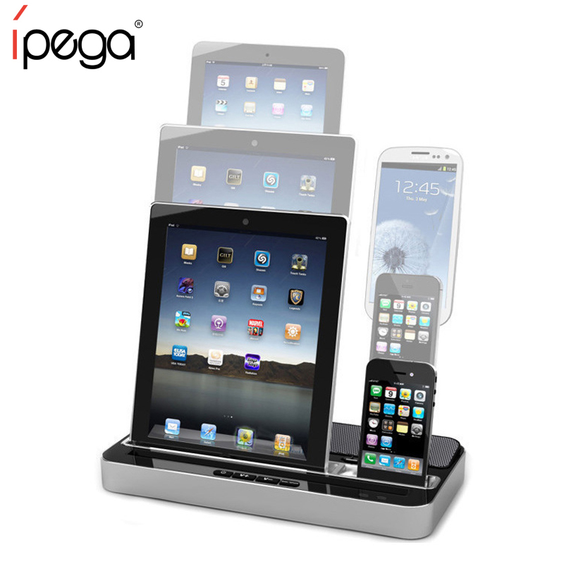 iPEGA Pg-ip115 Charger Speaker Docking Station for iPhone 4/5 for iPhone 7 for IPAD 2/3/4/MINI for Samsung Galaxy S2 S3