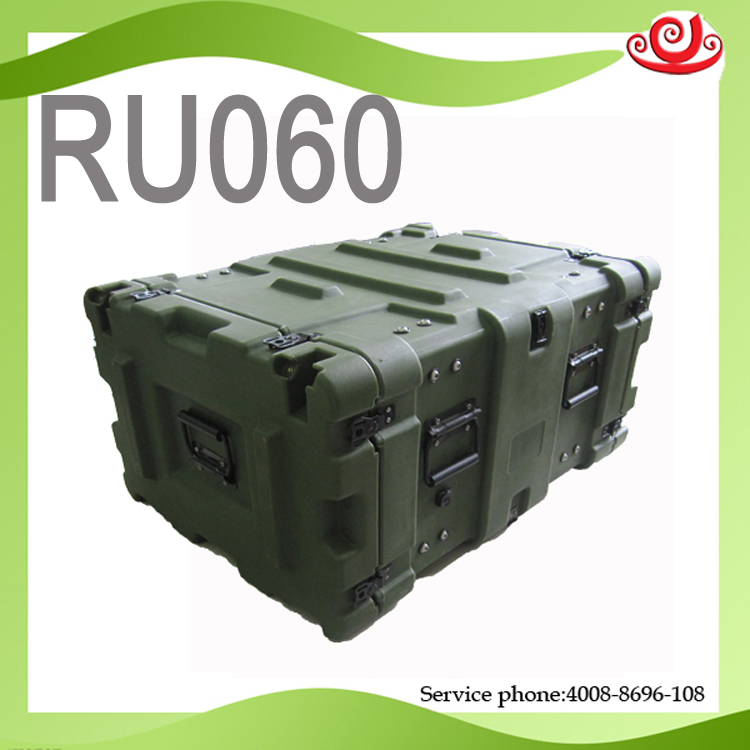 Tricases China Factory New Product OEM/ODM Military Standard Shockproof Watertight Roto Shock Rack Case 6U