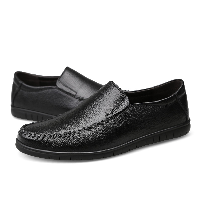 2018 New Big Size slip on Casual Men Loafers Spring and Autumn Mens Moccasins Shoes Genuine Leather Men's Flats Shoes 2017 new men s casual shoes fashion slip on men pu shoes creepers flats leisure shoes breathable loafers moccasins spring autumn