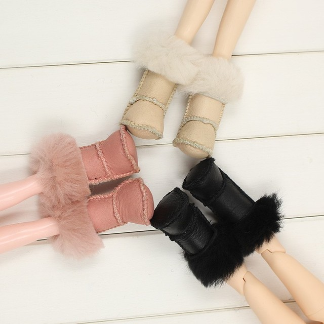 Neo Blythe Doll Leather Winter Shoes