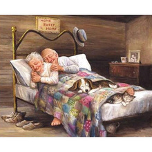 5D Diy Diamond Painting New Full Sleeping Couple Embroidery Mosaic Cross Stitch Home Decoration Gift L693