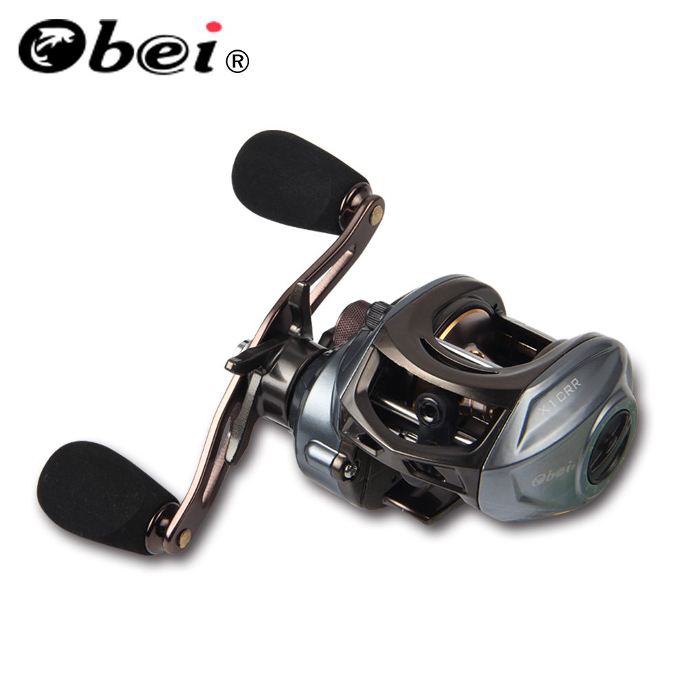 OBEI 2018 New X1 CRL Plus Dual Brake System Baitcasting Reel 8KG Max Drag 11+1 BBs 6.3:1 High Speed Fishing Reel