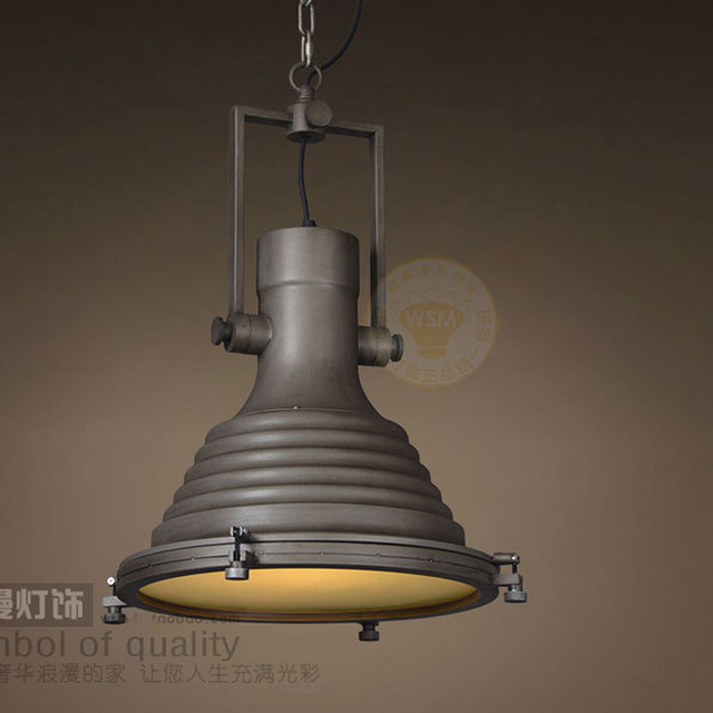 Industrial Wave Nautical Pendant Lamp Retro Vintage Rust Make To Old Art Deco Loft Brick Hanging