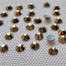 6A DMC 14 режущих граней камень горячей фиксации золотого цвета размер SS6 SS10 SS16 SS20 SS30, Корея dmc стразы горячей фиксации