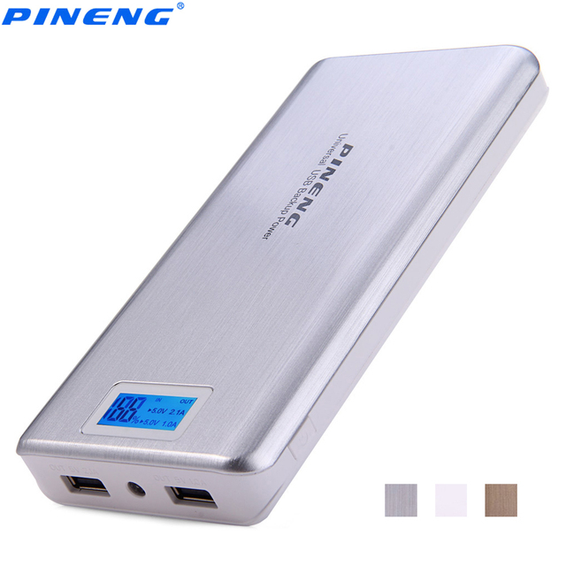 PINENG PN999 20000 mAh PowerBank Dual USB External Battery Charger Portable Power Bank LCD Display
