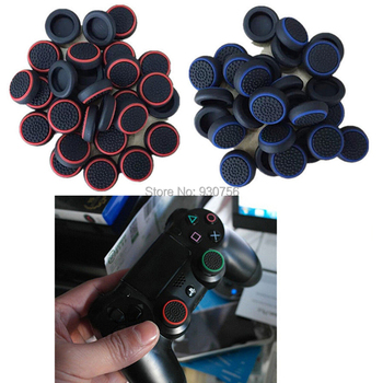 100PCS Silicone Analog Thumbstick Thumb stick Grips Caps Cover for PS4 Slim Pro PS3 Xbox One 360 S Elite Controller Аналоговый стик