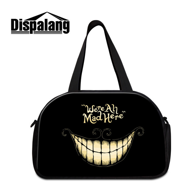 Dispalang Brand Women Gym Bag Cool Skull Print Luggage Travel Bags Large Capacity Outdoor Travelling