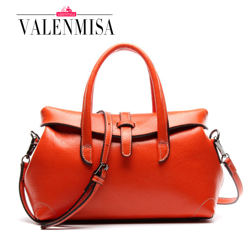 Luxury women imported genuine leather handbags 100% real leather bags for women  shoulder bags cowhide ladies high quality bag 100% skiip25ac12t2 has imported genuine old [invoicing]
