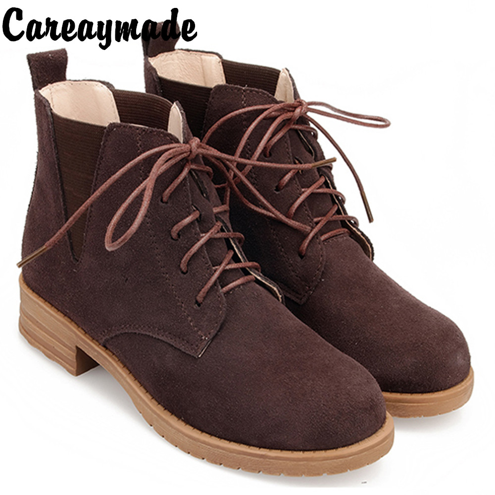 Careaymade-New 2019 the retro art mori girl Vintage Martin boots half ankle short genuine leather boots/women motorcycle bootsCareaymade-New 2019 the retro art mori girl Vintage Martin boots half ankle short genuine leather boots/women motorcycle boots