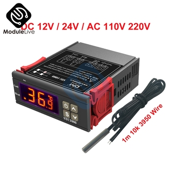 STC-1000 DC 12V 24V AC 110V 220V 10A Two Relay LED Digital Temperature Controller Thermostat Incubator with 1m 10k 3950 Wire image