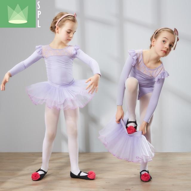 7a5808741 2pcs Children Ballet Dance Clothing Long Sleeve Girls Ballet Veil ...