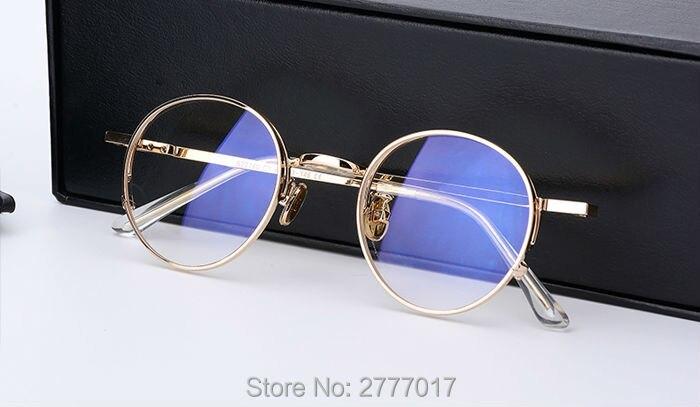 Aliexpress.com  Compre 2017 Nova Moda Rodada Do Vintage Óculos de Armação  de Metal Caro Clássico Suave Computador Marca prescrição Óculos de Armação  Oculos ... e7b79dc999