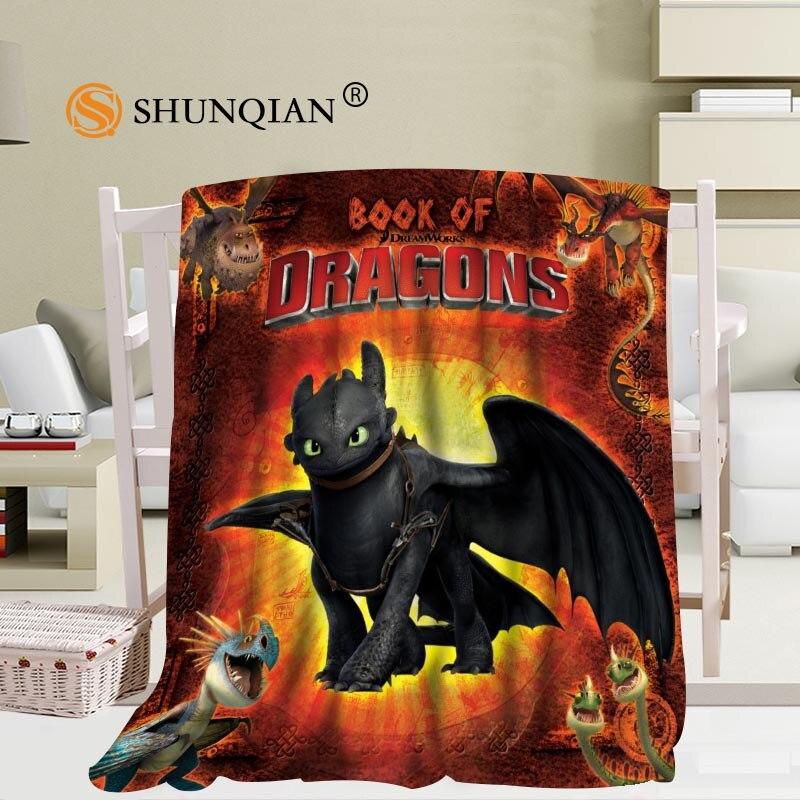 Personnalisé comment former votre couverture de voyage Dragon décontracté TV casual Relax pour la famille douce couverture chaude moelleuse