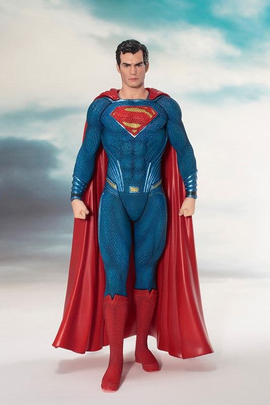 ARTFX + STATUE Justice League Superman 1/10 Scale DC Super Hero Man Figure Collectible Model Toys 18cm