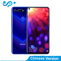 DHL Original Delivery Huawei Honor V20 4G LTE Cell Phone Kirin 980 Android 9.0 6.4 IPS 2310X1080 8GB RAM 256GB ROM 48.0MP NFC