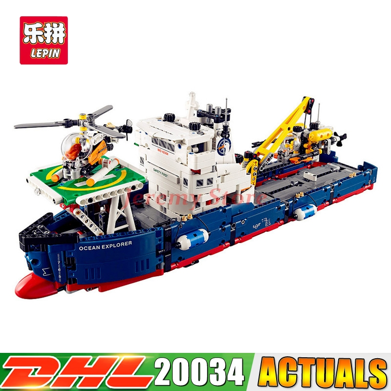 2017 DHL Lepin 20034 Genuine Technic Series Remote-control The Searching Ship Set Building Blocks Bricks Toys 42064 lepin 20054 4237pcs the moc technic series the remote control t1 classic volkswagen camper set 10220 building blocks bricks toys