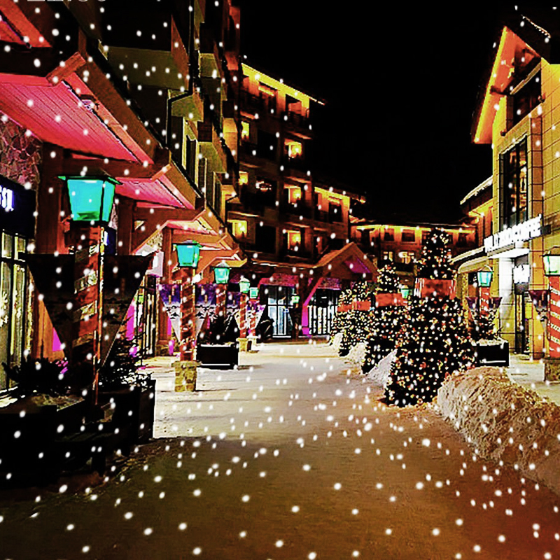 Snowfall Led Stage Lights Displays Projector Show Christmas Outdoor Indoor Rotating Snowflake Lamp Xmas Garden Landscape Decor (1)