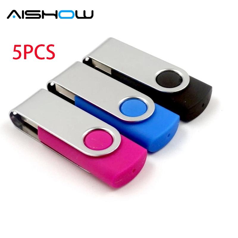 5PCS Real capacity 4GB 8GB 16GB 32GB 64GB USB stick High quality usb 2.0 USB Flash Drive thumb pendrive memory stick disk