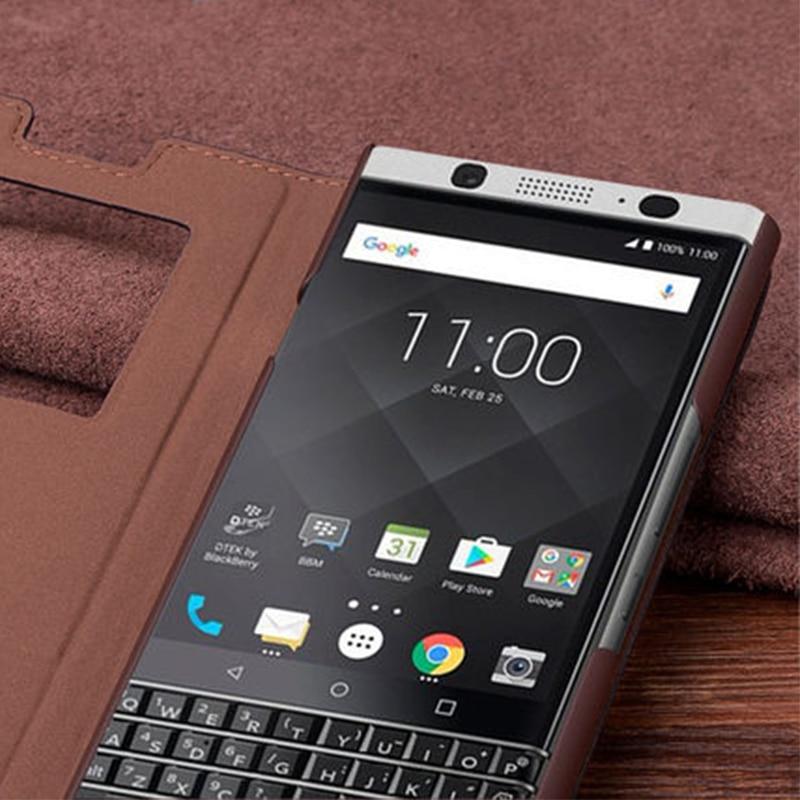 Étui en cuir véritable pour Blackberry KEYone étui en cuir véritable Crocodile Grain Flip sac de couverture de téléphone pour Black Berry DTEK70 4.5 - 6