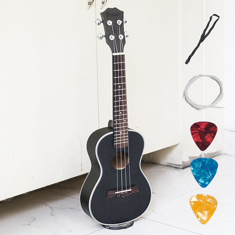 Acoustic Electric Concert Ukulele 23 Inch Hawaiian Guitar 4 Strings Ukelele Guitarra Mahogany Handcraft Green Black Musical Uke solid top concert acoustic electric ukulele 23 inch guitar 4 strings ukelele guitarra handcraft wood diduo mahogany plug in uke