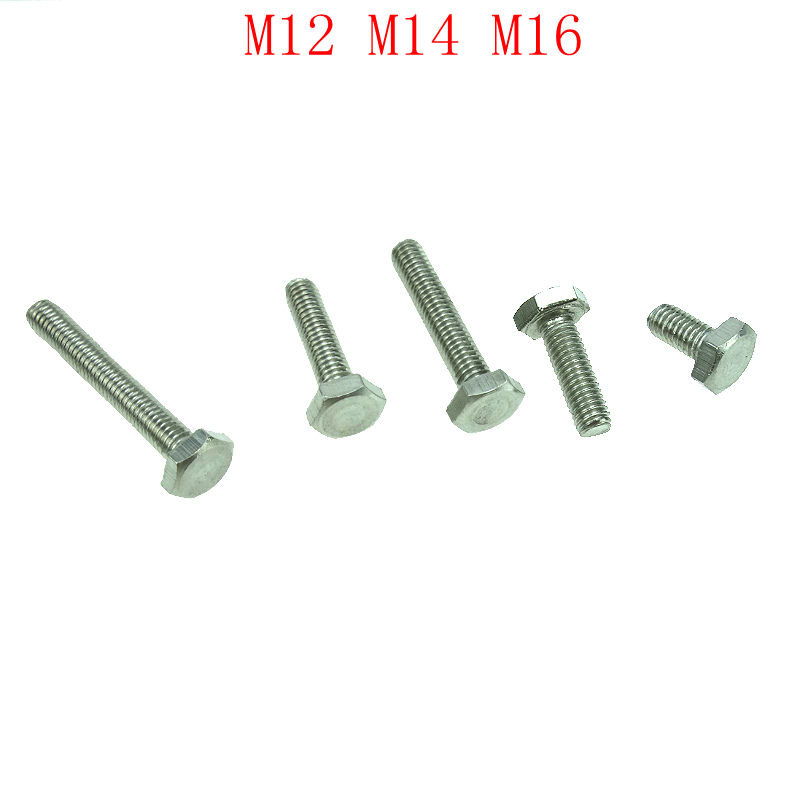 Acero inoxidable 304 M12/M14/16 tornillos hexagonales pernos exteriores perno Hexagonal DIN933 M5M6M8M10 tornillo de cabeza hexagonal exterior de cobre cabeza Hexagonal tornillo conductor DIN933 GB5783 ISO 4017 JIS B 1180,4