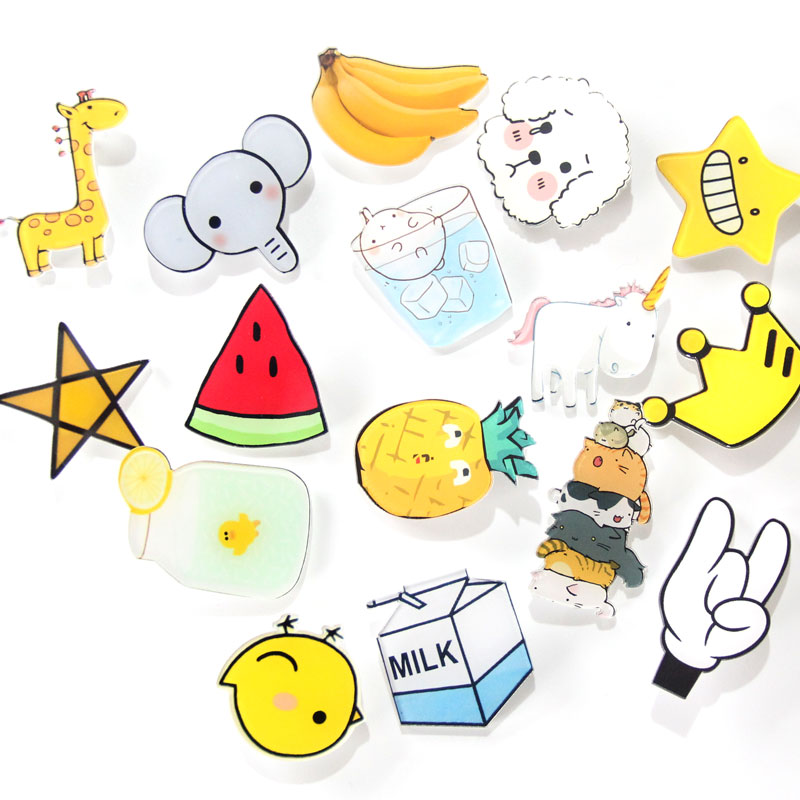1 PCS Acrylic Badges Free Shipping Icons on The Backpack Harajuku Badges for Clothing Kawaii Badge Icon on The Pin Brooch