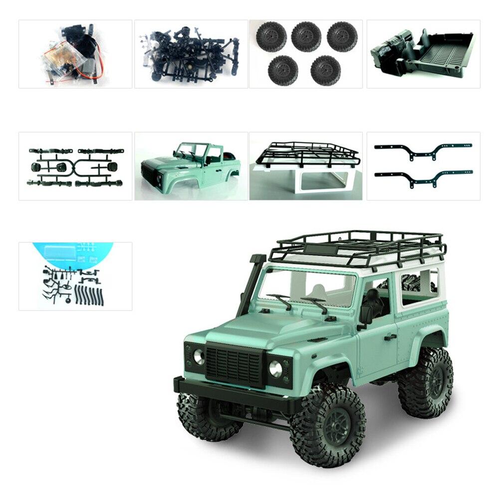 DIY комплект приводной вал электрический RC гоночный пульт дистанционного управления комплект игрушки 1:12 автомобиль 4WD 2,4 ГГц внедорожный игрушечный Гусеничный - Цвет: green