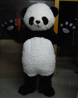 China Wholesale Long Hair Panda Bear Outfit Mascot Costume Fancy Dress For Kids