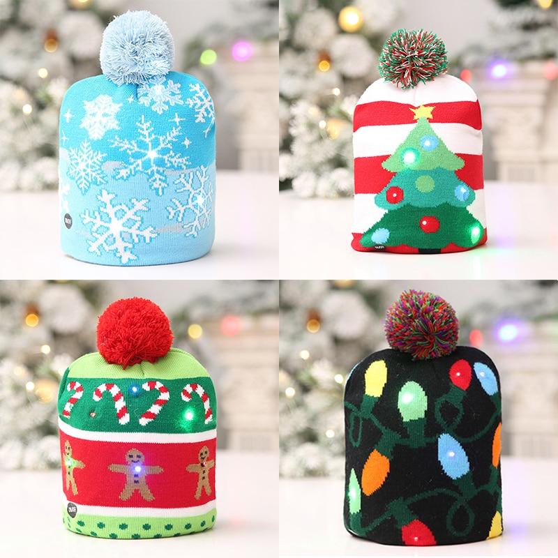 Christmas Tree Hats: LED Christmas Christmas Sweater Christmas Tree Beanie