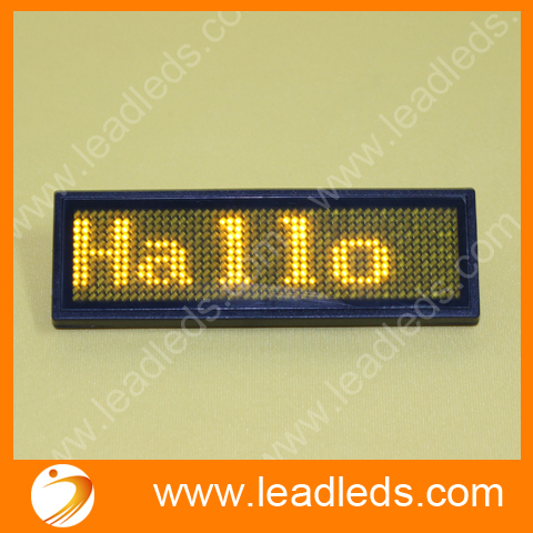 Rechargeable Led Name Tag Badge Support German And Other Multi Languages