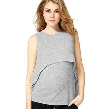 2017 Summer Maternity Nursing Tank Clothes Black Breastfeeding t-shirt For Pregnant Women Pregnancy Nurse Wear Cotton Clothing