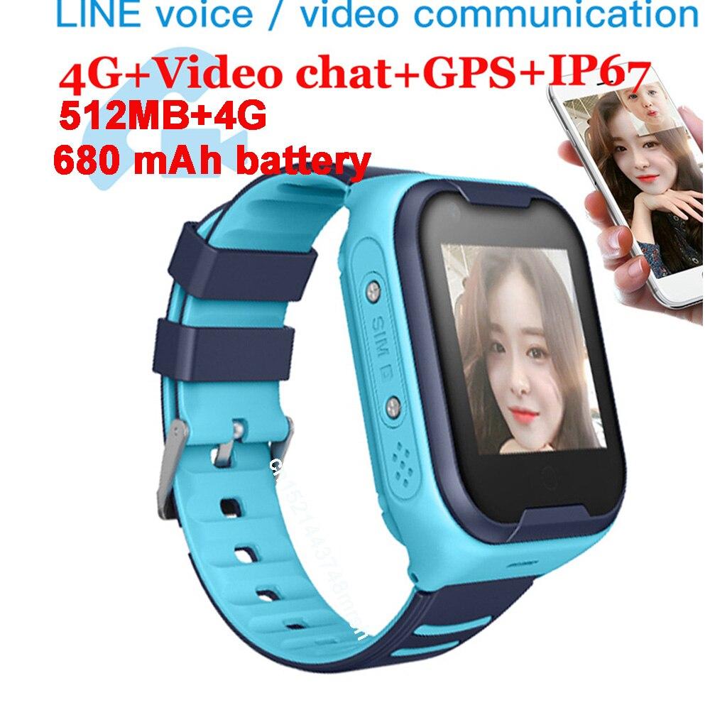 Kids Smart Watch 4G Wifi GPS Tracker Smartwatch Kids 4g Watch Phone Video Call Waterproof Smart Watch for Child Clock PK Q50 Q90-in Smart Watches from Consumer Electronics