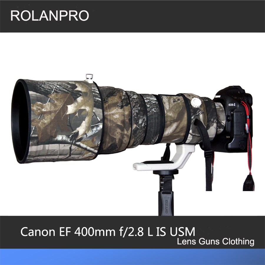 ROLANPRO Lens Clothing Camouflage Rain Cover Canon EF 400mm F/2.8 L IS USM Lens Protective Case Camera Lens Protection Sleeve rolanpro lens camouflage rain cover for canon ef 200mm f 2 l is usm lens protective case guns cotton clothing