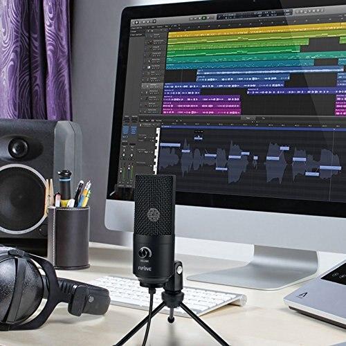 Image 3 - Микрофон для записи, usb разъем, подходит для компьютера, Windows, ноутбука, высокой чувствительности, для игрового инструмента, записи видео, K669BМикрофоны    АлиЭкспресс
