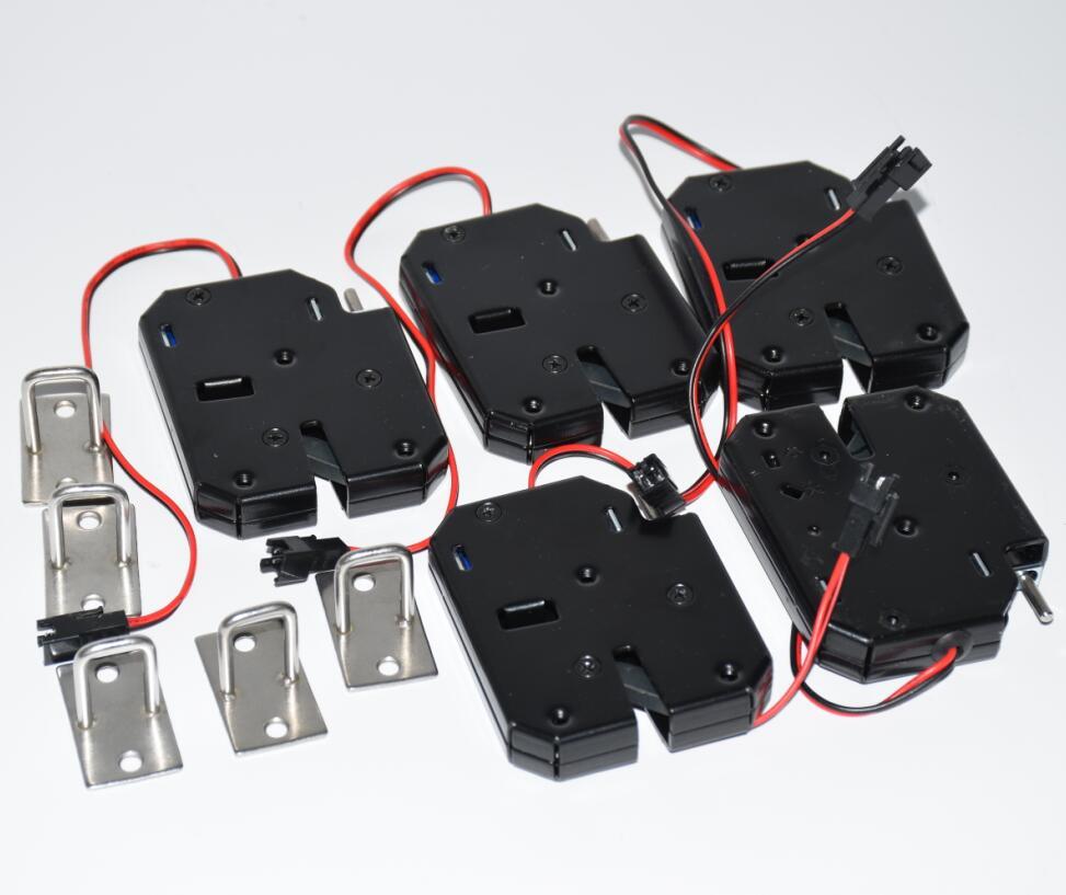 5 uds DC12V cerradura electrónica tipo marco abierto 12 V/2A para cerraduras de Gabinete/Cerraduras de solenoide/cajón
