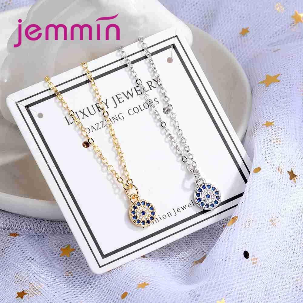 Prix usine 2 couleurs femmes collier rond bijoux 925 en argent Sterling collier avec Zircon cubique AAA