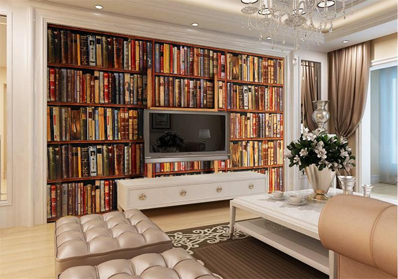 US $13.5 55% OFF|3d fototapete benutzerdefinierte größe tapete wohnzimmer  wandbild wandaufkleber retro buch wandmalerei hintergrund tapete für wand  ...