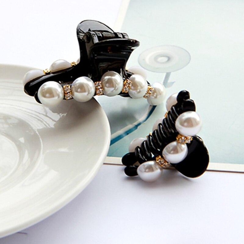 Imitation Pearls Hair Accessories Crystal Hairpins Rhinestone Hair Grip Barrettes Headwear For Women Girl