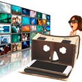 DIY Paperboard Head Wearing High Version 3d Virtual Reality Viewing Glasses For IPhone 5 6 7 Smartphones Headset