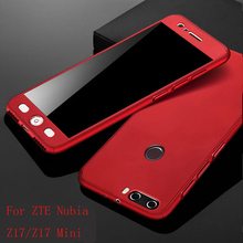 360 Degre Protected full body phone case for ZTE Nubia Z17 Shockproof Back Cover For mini Z17mini Case+Glass Film
