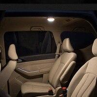 Creative Ronde USB de charge capteur lumières mince lit de chevet lampes escalier garde-robe armoires de voiture LED night light