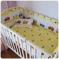 Продвижение! 6 шт. синий автомобили Airplan мальчик детские кроватки постельное белье детские кроватки детская кроватка постельных принадлежностей ( бампер + лист + )