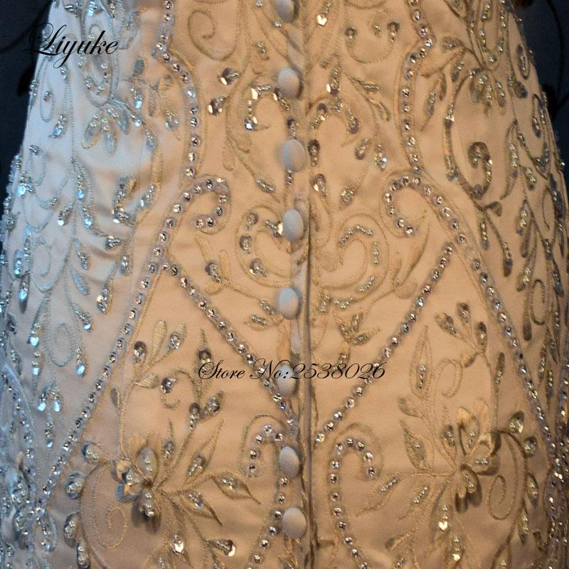 Liyuke borduurwerk zeemeermin trouwjurk nieuwe lieverd luxe - Trouwjurken - Foto 5