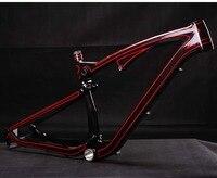 MIRACLE 27.5er Carbon mtb frame 27.5er Full Suspension Carbon mountain bike frame 18 in stock 27.5er XC 650b Carbon bike frame