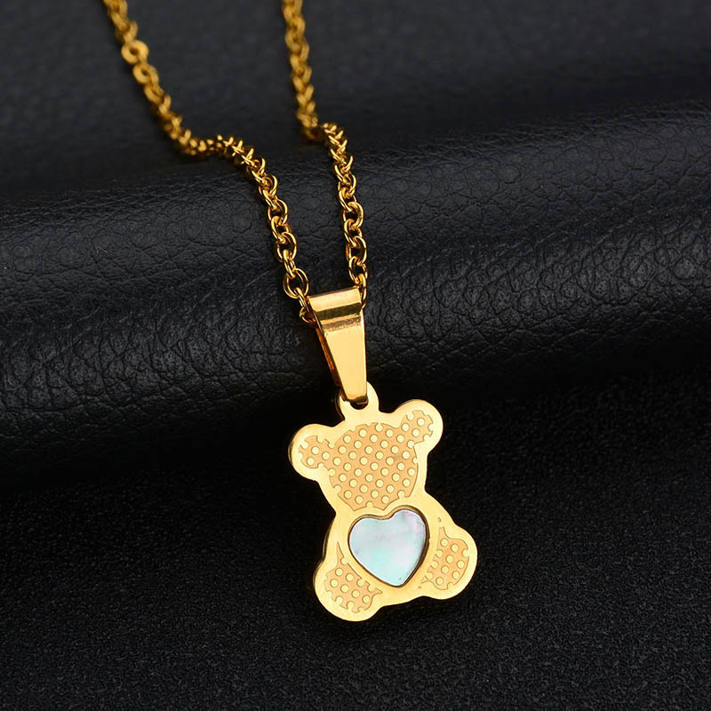 HTB1wlWQQMHqK1RjSZJnq6zNLpXa0 - Charm Hollow Cubic Zircon Bear Chain Necklaces For Women Gold Color Animal Necklace Jewelry Gift