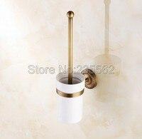 Bathroom Accessories Antique Brass Toilet Brush Holder Brush Cup Set lba271
